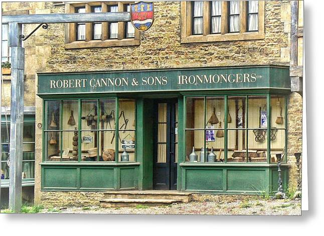 Ironmongers In Candleford Greeting Card