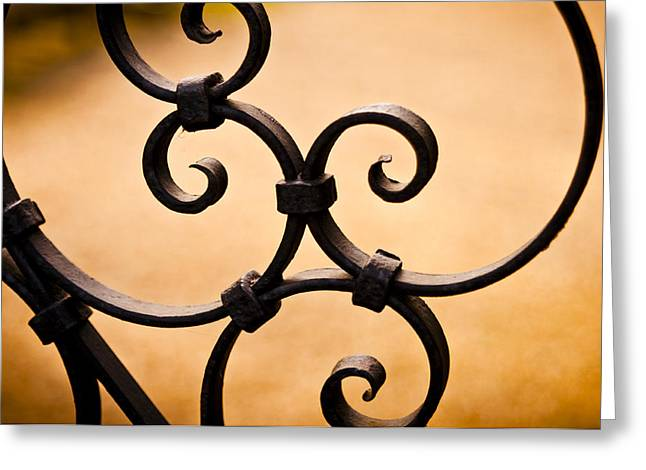 Ironwork Abstract Greeting Card