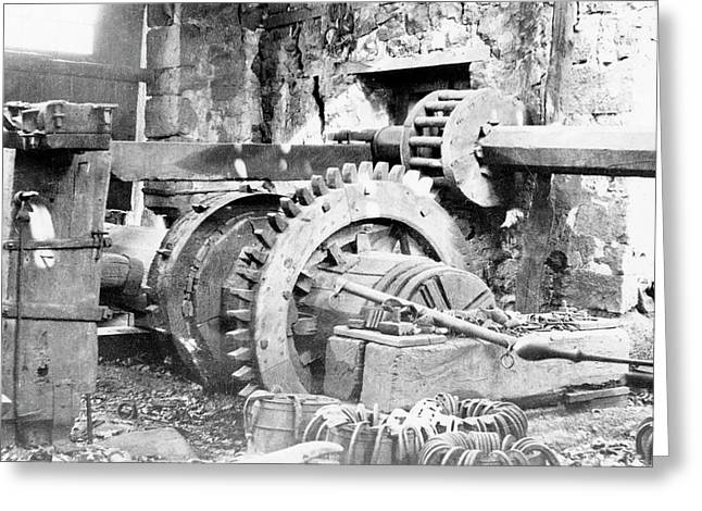 Ironworking Forge Machinery Greeting Card by Hagley Museum And Archive