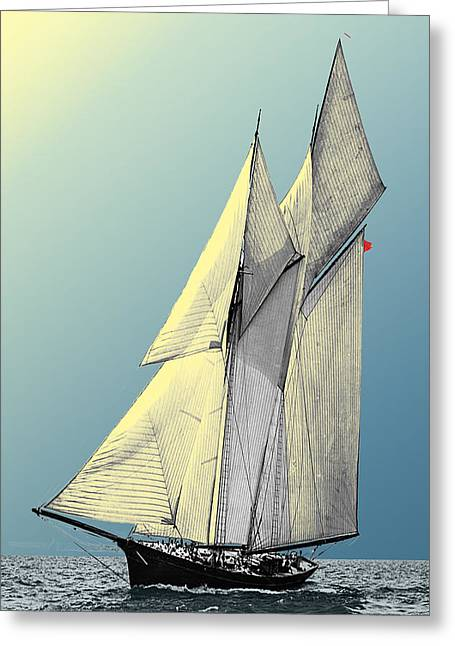 Iroquois - Schooner Yacht Greeting Card