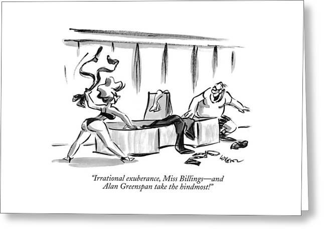 Irrational Exuberance Greeting Card