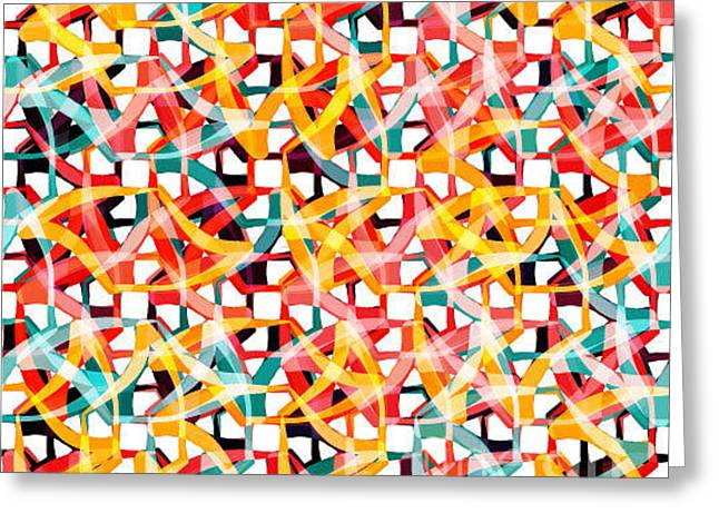 Irregular Chaotic Seamless Pattern Greeting Card