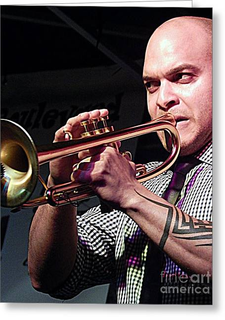 Irvin Mayfield In New Orleans Louisiana Greeting Card by Michael Hoard