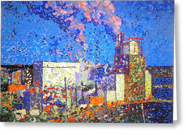 Irving Pulp Mill II Greeting Card