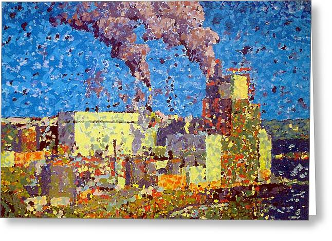 Irving Pulp Mill Greeting Card