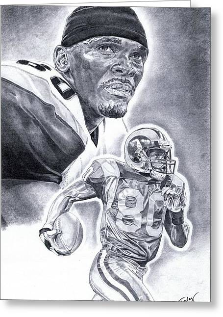 Isaac Bruce Greeting Card by Jonathan Tooley