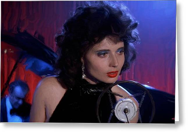 Isabella Rossellini In The Film Blue Velvet Greeting Card