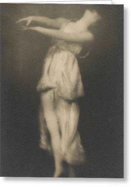 Isadora Duncan   Dancer Greeting Card by Arnold Genthe
