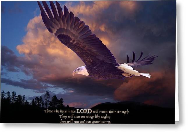Isaiah 40 31 Greeting Card