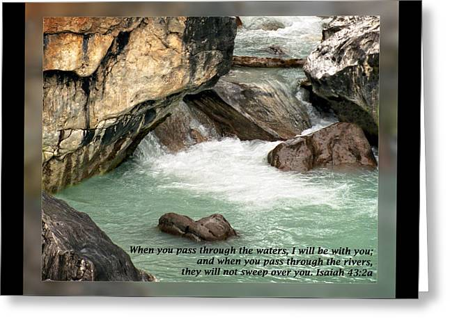 Isaiah 43 2a Greeting Card