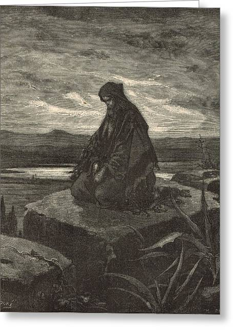 Isaiah Greeting Card by Antique Engravings