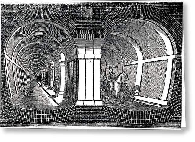 Isambard Brunel's Tunnel Under The Thames Greeting Card by Universal History Archive/uig