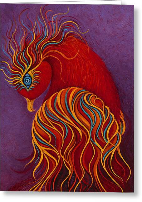 Isis Mythical Phoenix Greeting Card by Karen Balon