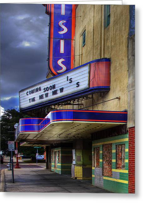Isis Movie Theater Greeting Card by David and Carol Kelly