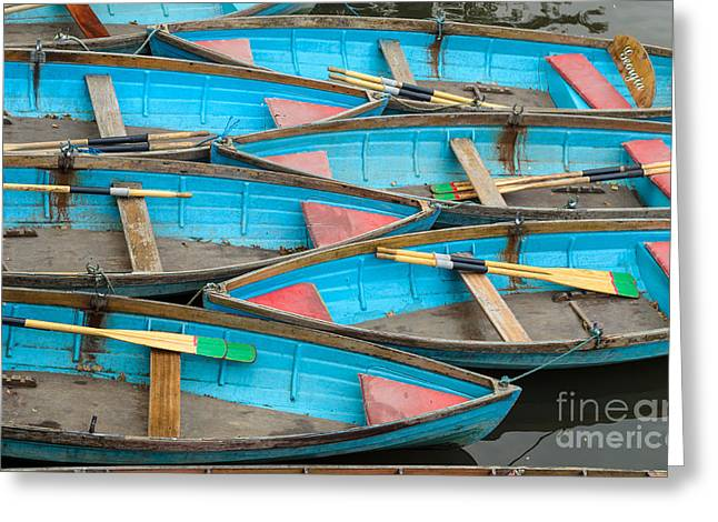 Isis Rowing Boats Greeting Card by OUAP Photography