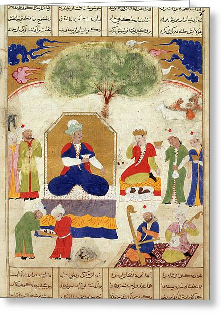 Iskandar With The Russian King Greeting Card by British Library