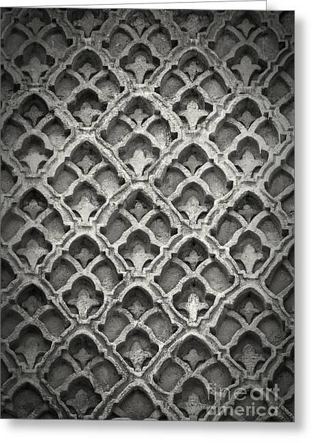 Islamic Art Stone Texture Greeting Card by Antony McAulay