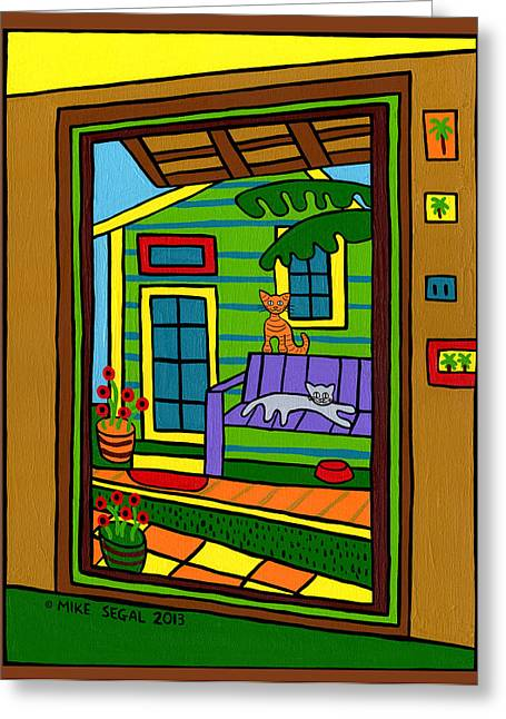 Island Arts Garden - Cedar Key Greeting Card