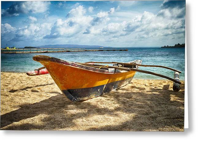 Island Boat Greeting Card