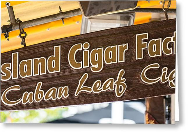 Island Cigar Factory Key West - Panoramic  Greeting Card by Ian Monk
