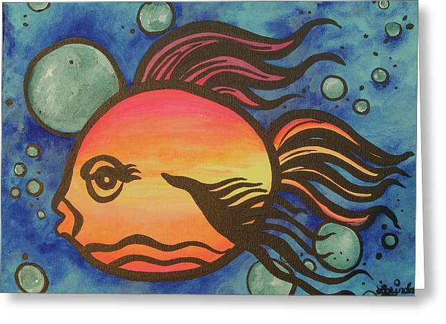Island Fish Greeting Card by Lorinda Fore