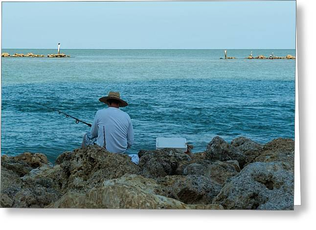 Island Fisherman Greeting Card