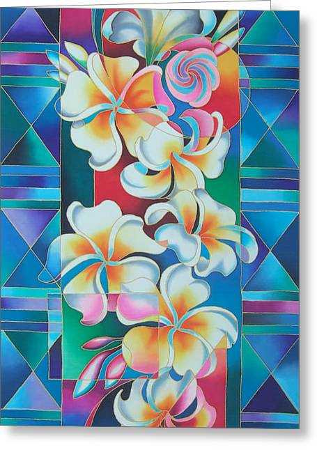 Island Flowers - Frangipani Greeting Card