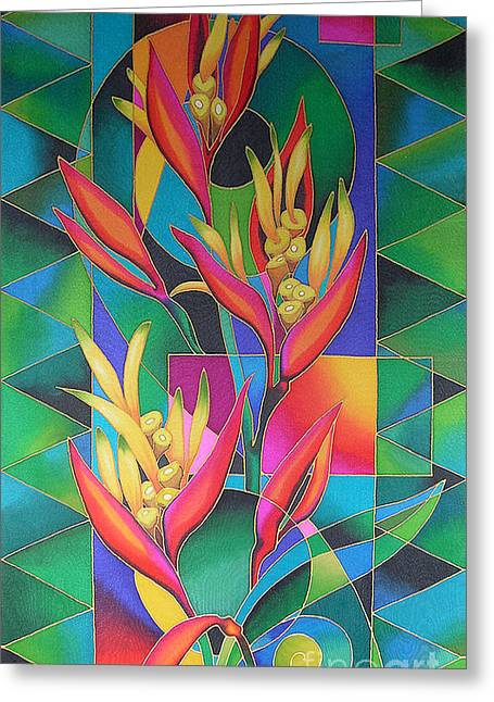 Island Flowers - Heliconia Greeting Card