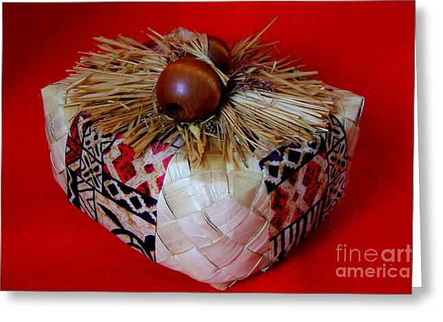 Island Gift Box With Ipu Greeting Card by Mary Deal