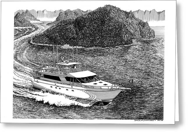 Island Hopping Yachting Greeting Card