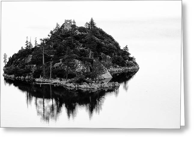 Island In A Lake Greeting Card by Celso Diniz