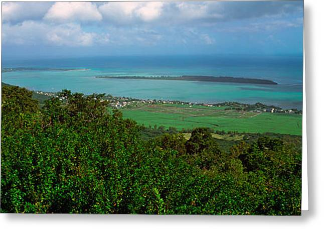 Island In The Indian Ocean, Mauritius Greeting Card by Panoramic Images
