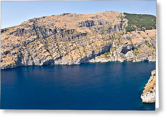 Island In The Sea, Punta Campanella Greeting Card by Panoramic Images