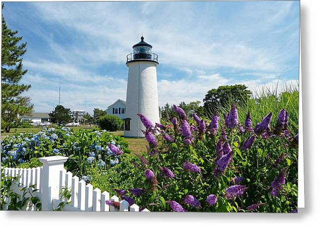 Greeting Card featuring the photograph Island Light by Elaine Franklin