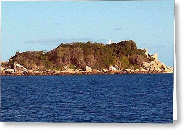 Island Lighthouse Australia Greeting Card by John Potts