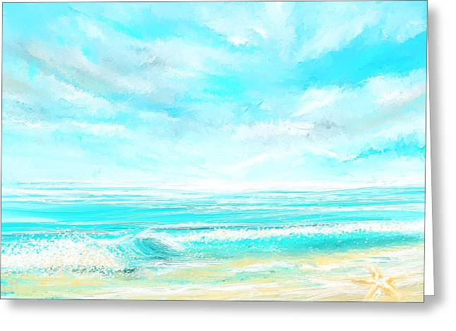 Island Memories - Seascapes Abstract Art Greeting Card