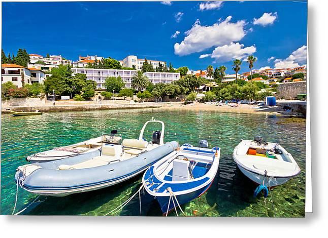 Island Of Hvar Turquoise Beach Greeting Card