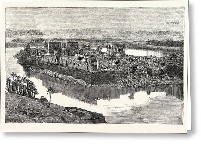Island Of Philae, Scene On The Nile, Egypt Greeting Card by Egyptian School