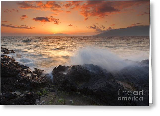 Island Paradise Greeting Card by Mike  Dawson