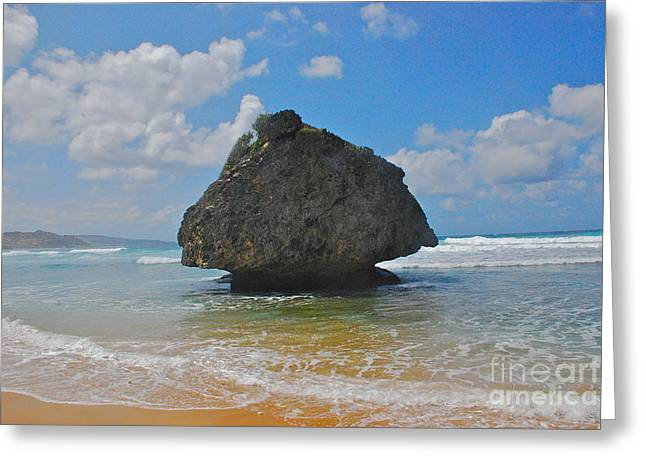 Island Rock Greeting Card by Blake Yeager