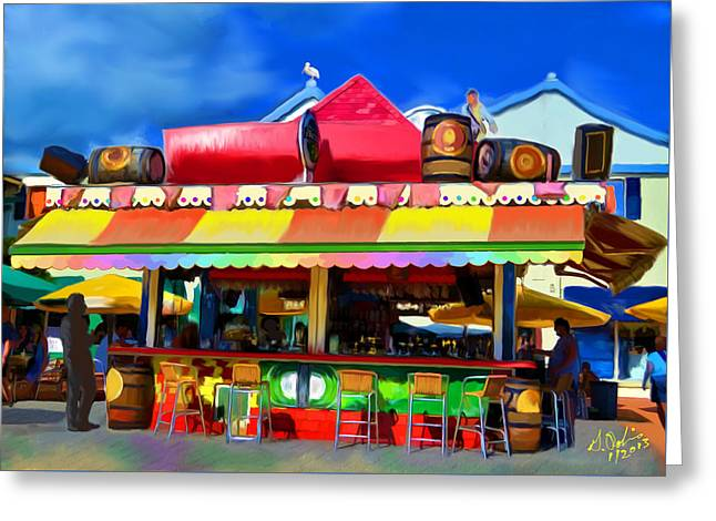 Island Stand Greeting Card by Gerry Robins