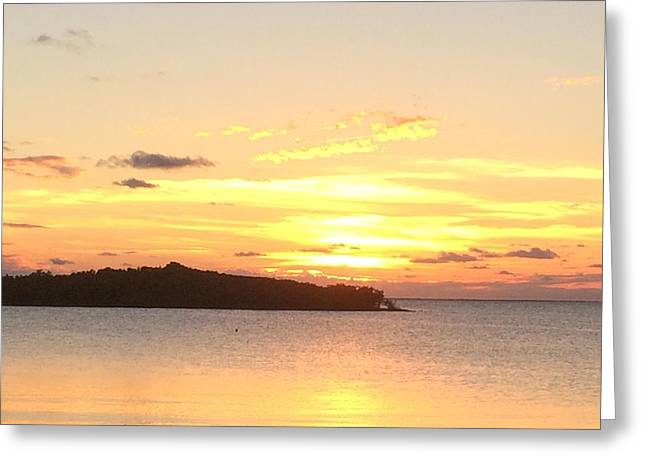 Island Sunset Greeting Card