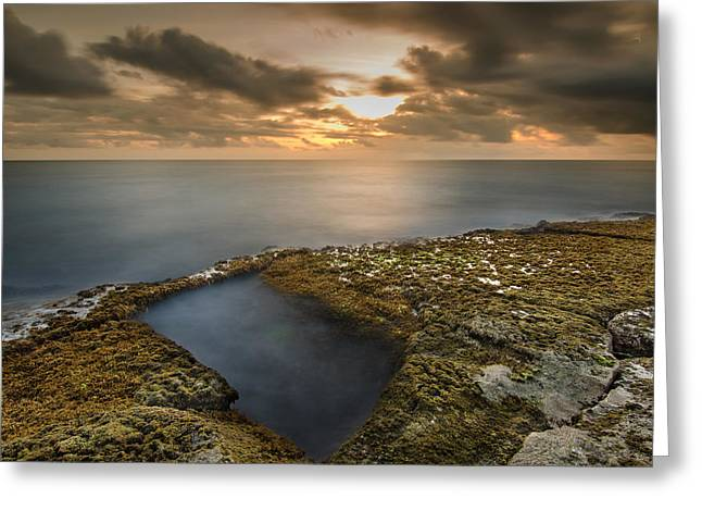 Island Sunset Greeting Card by Tin Lung Chao