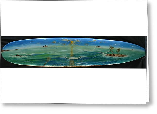 Island Surf Dreams Greeting Card
