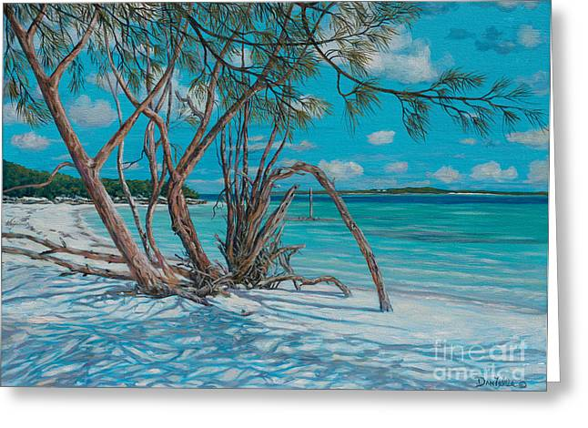 Island Time Greeting Card by Danielle  Perry