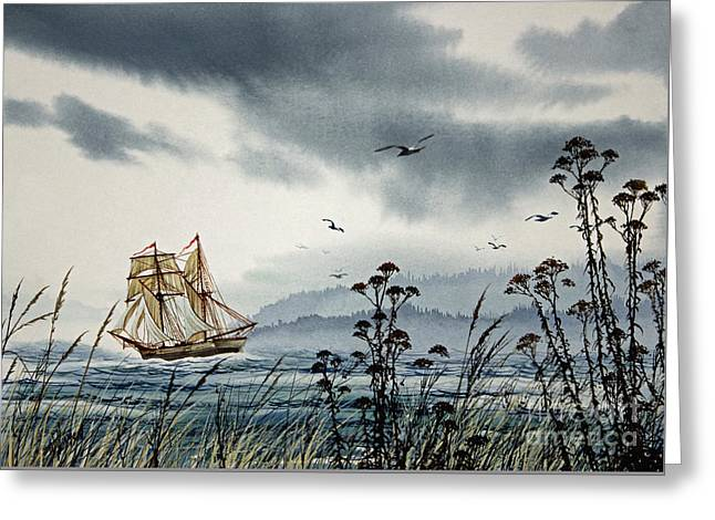 Island Voyager Greeting Card by James Williamson