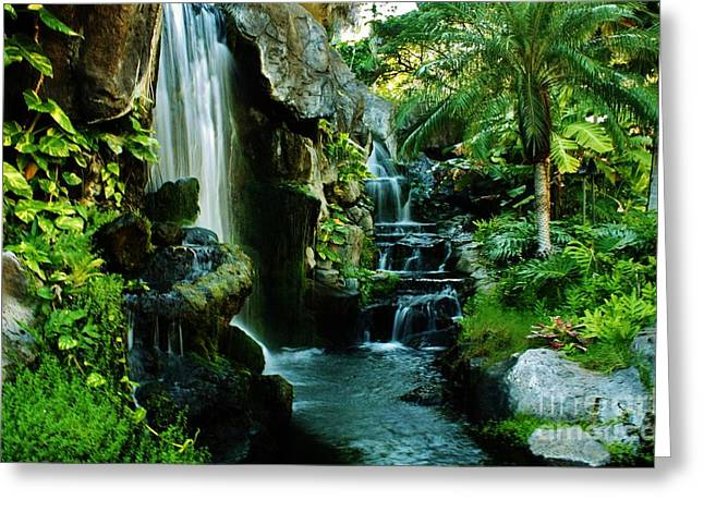 Island Waterfall Greeting Card by Craig Wood