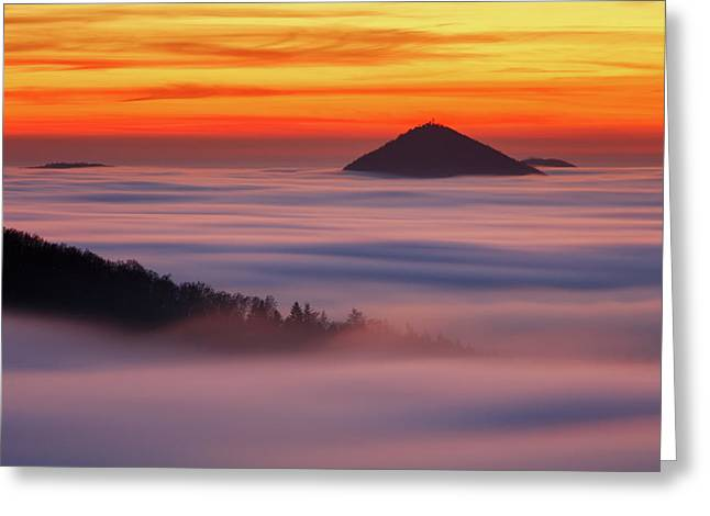 Islands In The Clouds Greeting Card