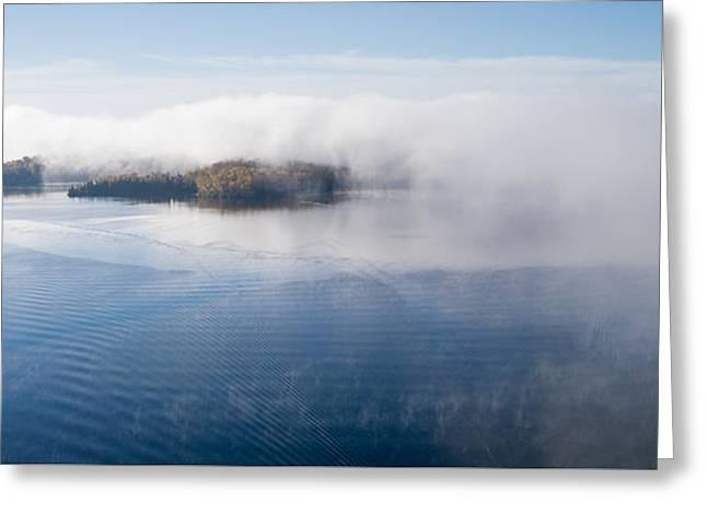 Islands In The Fog. Big Cedar Lake. Greeting Card by Rob Huntley