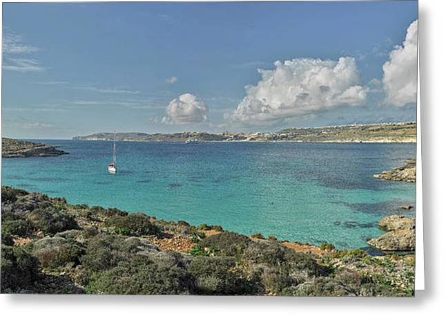 Islands In The Sea, Blue Lagoon Greeting Card by Panoramic Images